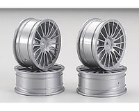 Tamiya Medium Narrow 18-Spoke 1/10 Scale On Road Wheels (Silver) (4)