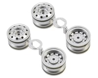 Tamiya TT-01 Type-E Racing Truck Wheels (Matte Chrome) (4)
