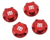 "Tekno RC NT48 17mm Aluminum ""T Logo"" Covered Serrated Wheel Nut (Red) (4)"