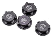 Tekno RC Aluminum 17mm Serrated Fine Thread Wheel Nut (Gun Metal) (4) (Losi L8ight)