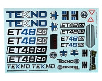 Tekno RC ET48 2.0 Decal Sheet