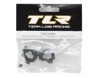 Team Losi Racing 22 4.0 5° Caster Block Set