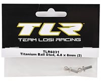 Image 2 for Team Losi Racing 4.8x8mm Titanium Ball Stud Set (2)