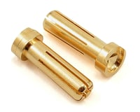 "TQ Wire 5mm ""Low Profile"" Male Bullet Connector (Gold) (2) 