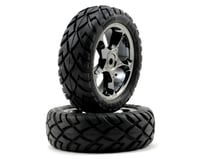 "Traxxas Anaconda Front Tires w/Tracer 2.2"" Wheels (2) (Black Chrome) 