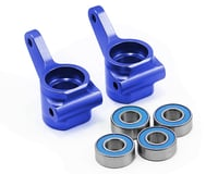 Traxxas Nitro Slash Aluminum Steering Blocks w/Ball Bearings (Blue) (2)
