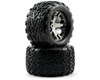 Traxxas Talon Rear Tires w/All-Star Wheels (2) (Black Chrome) | relatedproducts