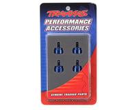 Image 2 for Traxxas Aluminum Ultra Shock Cap (Blue) (4)