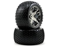 Traxxas Alias Rear Tires w/All-Star Wheels (2) (Black Chrome) (Standard) | alsopurchased