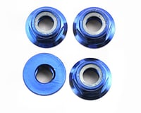 Traxxas Nuts, 5mm flanged nylon locking (aluminum, blue-anodized) (4)