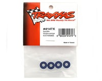 Image 2 for Traxxas Nuts, 5mm flanged nylon locking (aluminum, blue-anodized) (4)