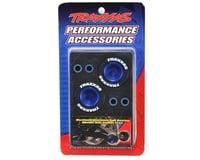 Image 2 for Traxxas Aluminum Wheelie Bar Wheel Set w/Rubber Tires (Blue) (2)