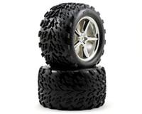 Traxxas Pre-Mounted Talon Tires w/Gemini Wheels (2) (Chrome) | relatedproducts
