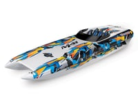 "SCRATCH & DENT: Traxxas DCB M41 Widebody 40"" Catamaran High Performance 6S Race Boat (Orange)"