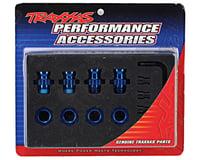 Image 2 for Traxxas Aluminum 17mm Wheel Adapter Set (Blue) (4)
