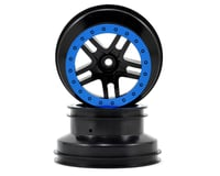 Traxxas Dual Profile Split-Spoke SCT Wheels (Black/Blue) (2) (Slash Front) | relatedproducts