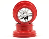Traxxas Dual Profile Split-Spoke SCT Wheels (Chrome/Red-2) (Slayer Pro)