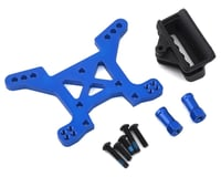 Traxxas Aluminum Rustler 4X4 Front Shock Tower (Blue) | relatedproducts