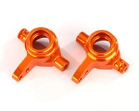 Traxxas Rustler 4x4 Aluminum Steering Block Set (Orange) (2)