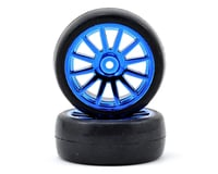 Traxxas LaTrax Pre-Mounted Slick Tires & 12-Spoke Wheels (Blue Chrome) (2) | relatedproducts