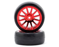 Traxxas LaTrax Pre-Mounted Slick Tires & 12-Spoke Wheels (Red Chrome) (2) | relatedproducts