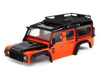 Traxxas TRX-4 Land Rover Defender Pre-Painted Body w/Exocage (Orange)