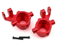 Traxxas Maxx Aluminum Steering Blocks (Red) | relatedproducts