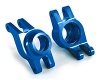Traxxas Maxx Aluminum Hub Carriers (Blue)