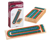 Toysmith Triple Track Wood Cribbage Board