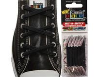 U-Lace Classic No-Tie Customized Sneaker Shoe Laces Black Mix & Match 6 Pcs. - 1 Pack Per Shoe