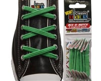 U-Lace Classic No-Tie Customized Sneaker Shoe Laces Kelly Green Mix & Match 6 Pcs. - 1 Pack Per Shoe