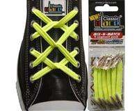 U-Lace Classic No-Tie Customized Sneaker Shoe Laces Neon Yellow Mix & Match 6 Pcs. - 1 Pack Per Shoe