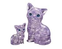 University Games Corp Original 3D Crystal Puzzle - Cat & Kitten Clear
