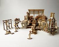 UGears Mechanical Town Robot Factory Wooden 3D Model