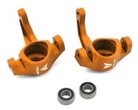 Vanquish Products Aluminum Steering Knuckle Set w/Bearings (2) (Orange) (Axial EXO)