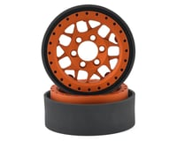 Vanquish Products KMC XD127 Bully 1.9 Beadlock Crawler Wheels (Orange) (2)
