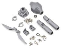 Vanquish Products SCX10 Currie F9 Rear Axle Assembly (Grey) (Vaterra Twin Hammers)