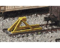 Walthers Track Bumpers yellow   5/