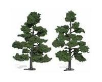 """Woodland Scenics Ready-Made Tree, Medium Green 7-8"""" (2)"""
