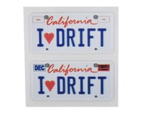 Image 1 for WRAP-UP NEXT REAL 3D U.S. Licence Plate (2) (I LOVE DRIFT) (11x50mm)