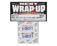 Image 2 for WRAP-UP NEXT REAL 3D U.S. Licence Plate (2) (I LOVE DRIFT) (11x50mm)