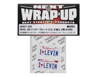 Image 2 for WRAP-UP NEXT REAL 3D U.S. Licence Plate (2) (I LOVE LEVIN) (11x50mm)