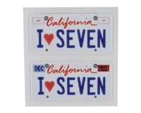 WRAP-UP NEXT REAL 3D U.S. Licence Plate (2) (I LOVE SEVEN) (11x50mm)