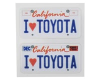 WRAP-UP NEXT REAL 3D U.S. Licence Plate (2) (I LOVE TOYOTA) (11x50mm) | relatedproducts