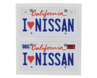WRAP-UP NEXT REAL 3D U.S. Licence Plate (2) (I LOVE NISSAN) (11x50mm) | alsopurchased