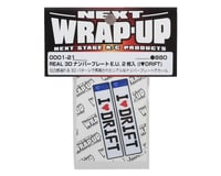 Image 2 for WRAP-UP NEXT REAL 3D E.U. Licence Plate (2) (I LOVE DRIFT) (11x50mm)