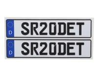 WRAP-UP NEXT REAL 3D E.U. Licence Plate (2) (SR20DET) (11x50mm)