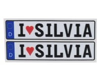 Image 1 for WRAP-UP NEXT REAL 3D E.U. Licence Plate (2) (I LOVE SILVIA) (11x50mm)
