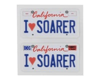 WRAP-UP NEXT REAL 3D E.U. Licence Plate (2) (I LOVE SOARER) (11x50mm)   relatedproducts