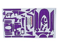 "WRAP-UP NEXT REAL 3D ""Crocodile"" Premium Transmitter Skin (Purple) (Sanwa M12)"